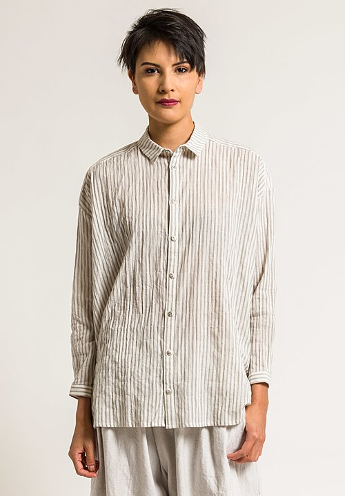 Toogood Long Draughtsman Shirt in Coal