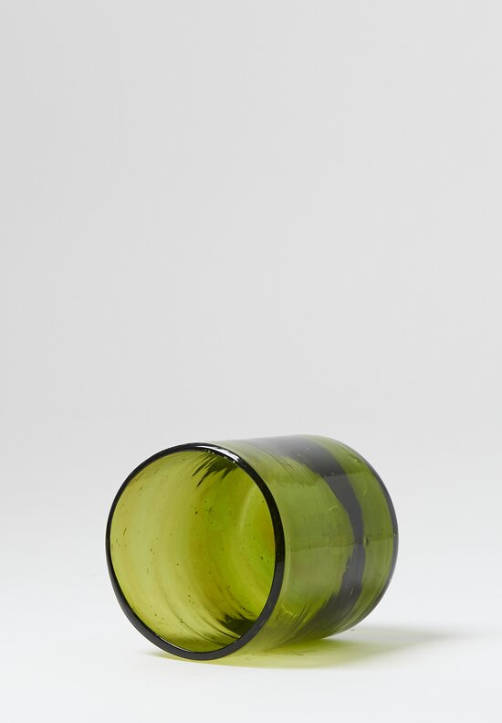 Handblown Glasses in Olive