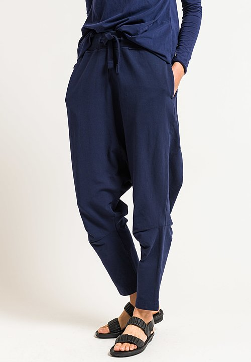 Rundholz Black Label Drop Crotch Pants in Blue