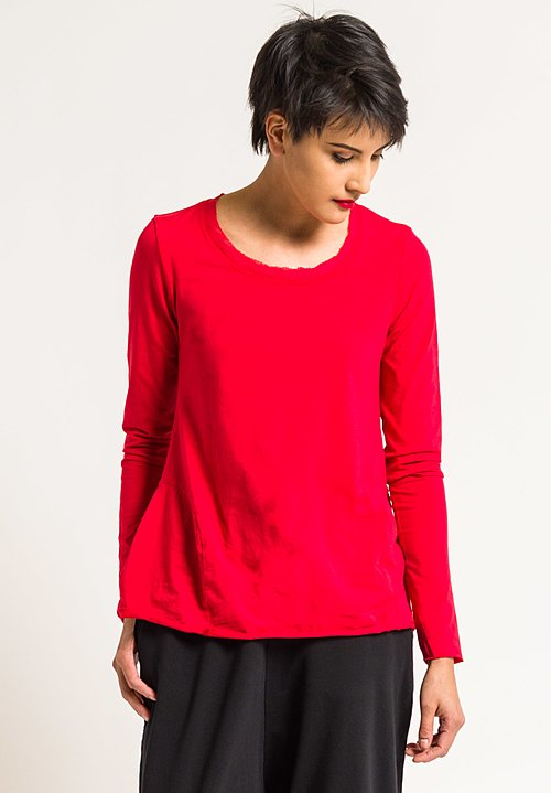 Rundholz Black Label A-Line Tee in Red