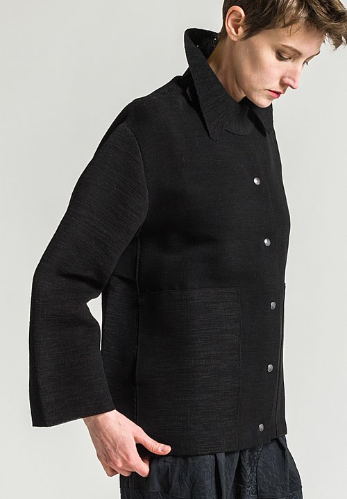Boboutic Textured Short Jacket in Black