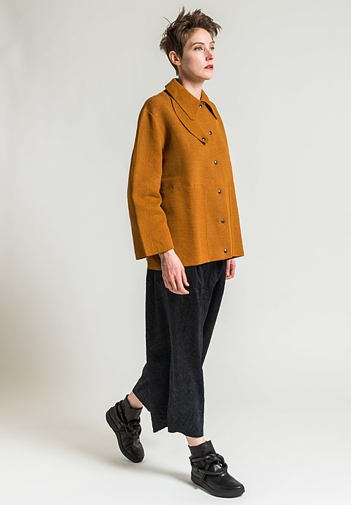 Boboutic Textured Short Jacket in Camel