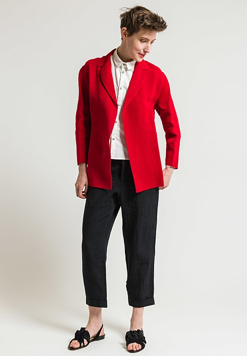 Boboutic Textured Open Jacket in Red