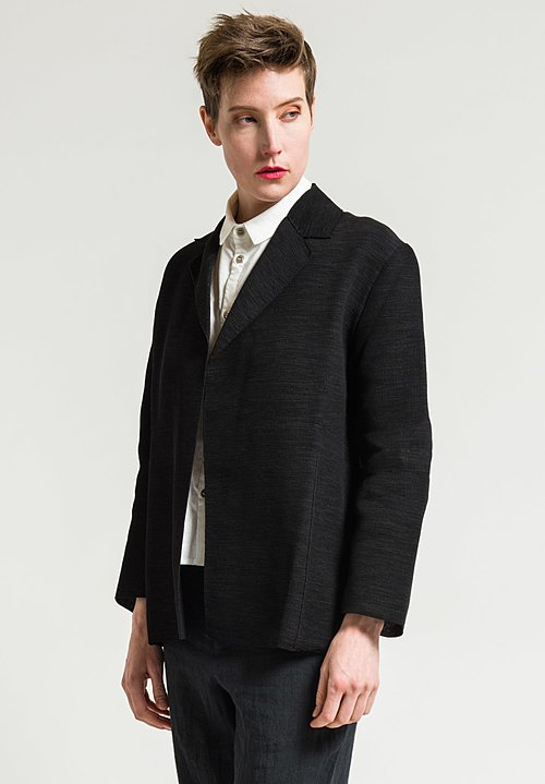 Boboutic Textured Open Jacket in Black