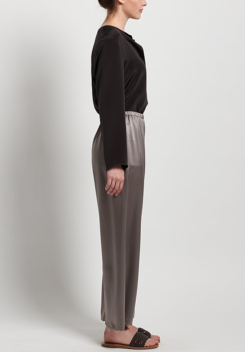 Peter Cohen Silk Cropped Pants in Lead