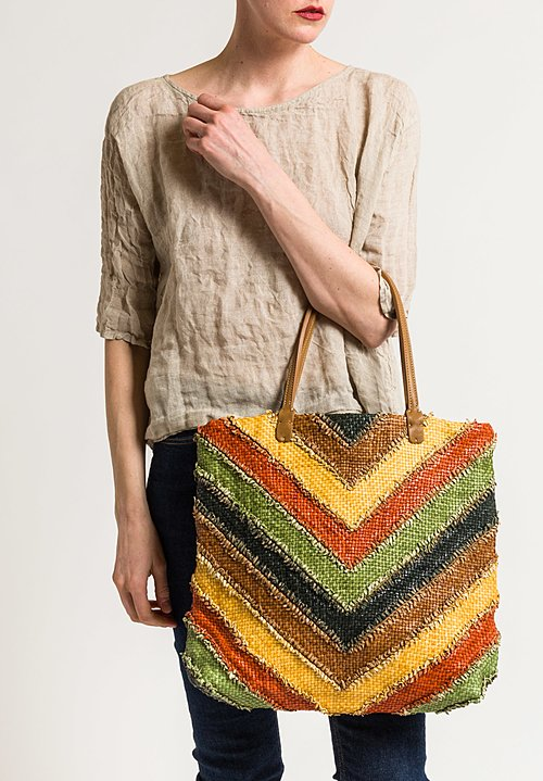Massimo Palomba Gisele Arrow Tote in Rainbow