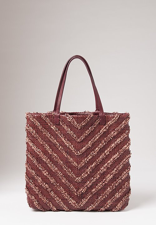Massimo Palomba Gisele Arrow Tote in Plum