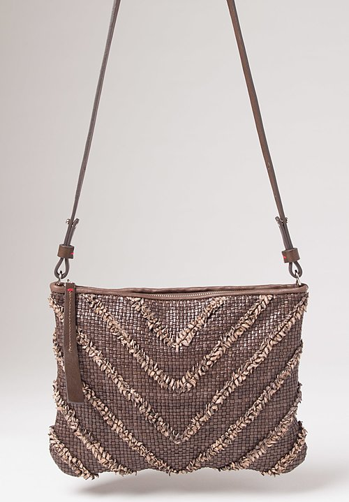Massimo Palomba Momo Arrow Shoulder Bag in Taupe