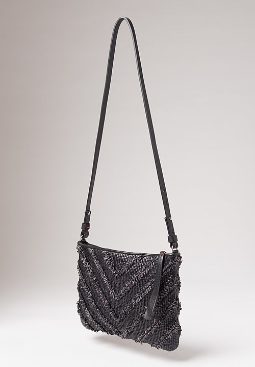 Massimo Palomba Momo Arrow Shoulder Bag in Black