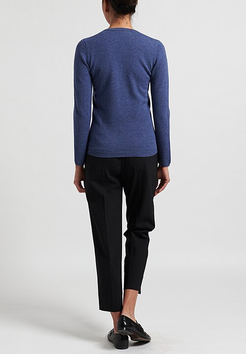 Brunello Cucinelli V-Neck Sweater in Denim