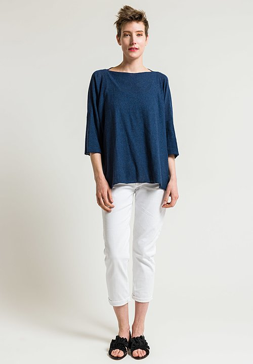 Shi Cashmere Trevor Kytar Top in Blue