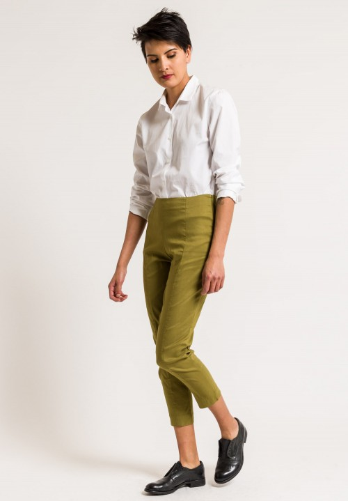 Peter O. Mahler Cropped Seam Pants in Khaki