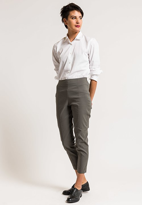 Peter O. Mahler Cropped Seam Pants in Grey