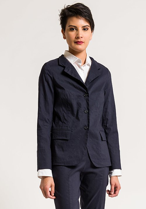 Peter O. Mahler Diagonal Placket Jacket in Navy