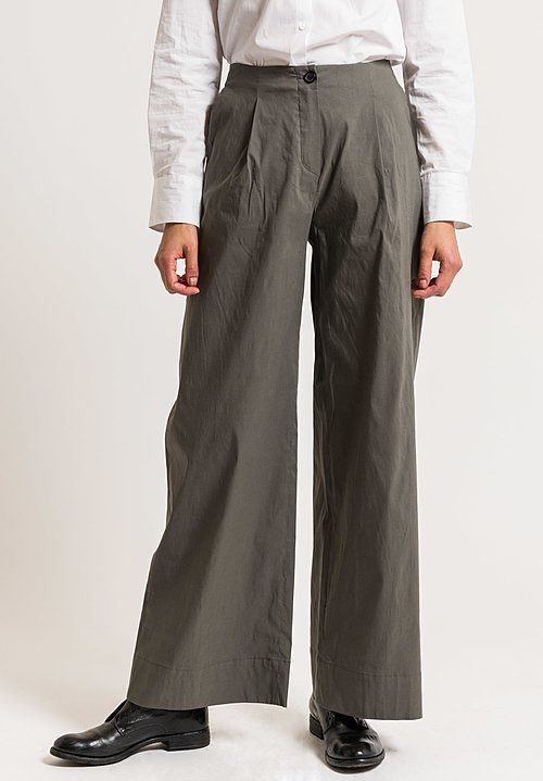 Peter O. Mahler Front Pleat Pants in Grey