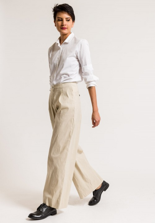 Peter O. Mahler Front Pleat Pants in Sand