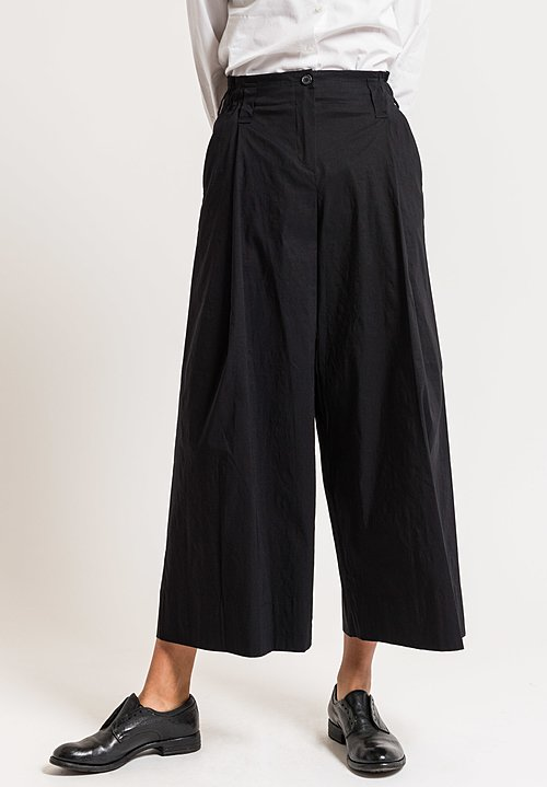 Peter O. Mahler Relaxed Wide Leg Culottes in Black