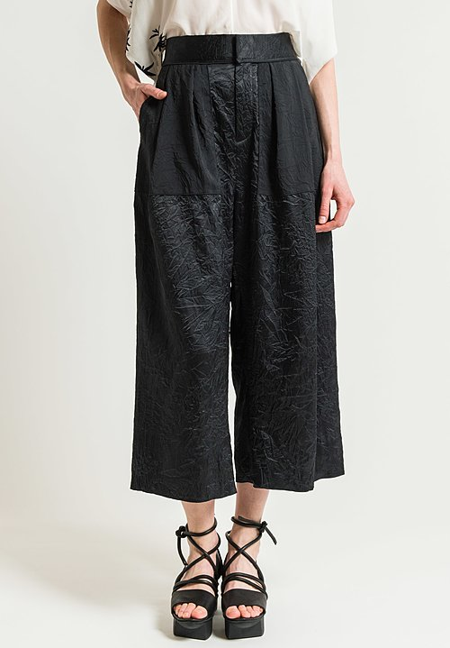 Ms Min Pleated Contrasting Pants in Black