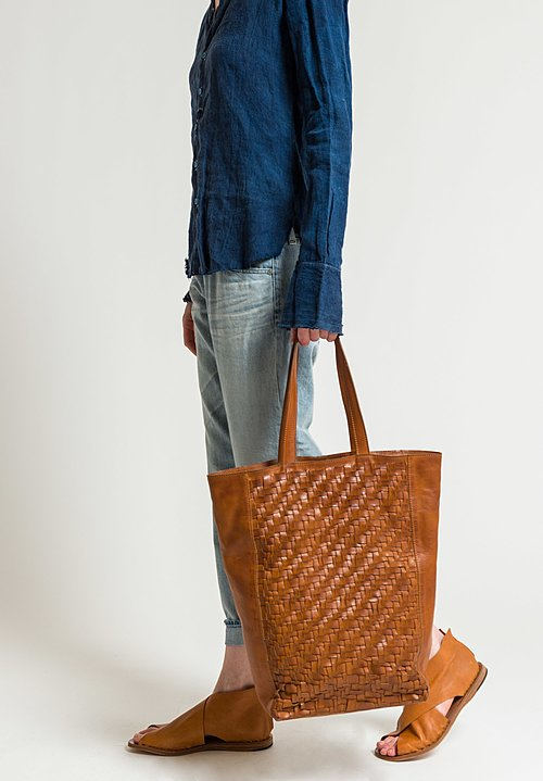 Rita Merlini Tall Beatrice Tote in Camel