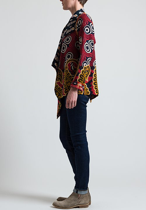 Mieko Mintz 4-Layer Jacket in Black/ Red