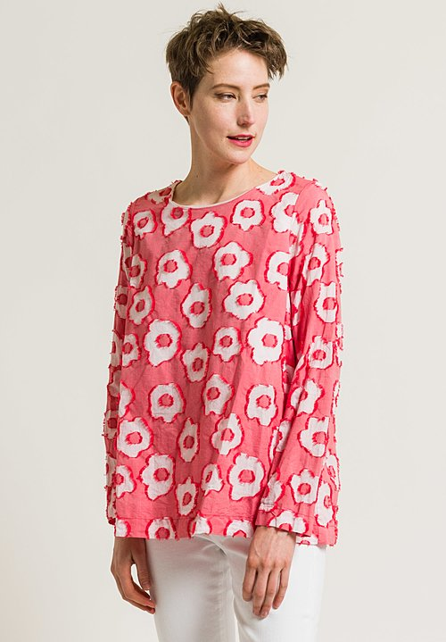 Casey Casey Orchard Top in Red Floral