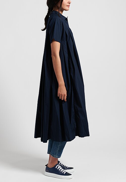 Casey Casey Pleated Charlotte Dress in Navy