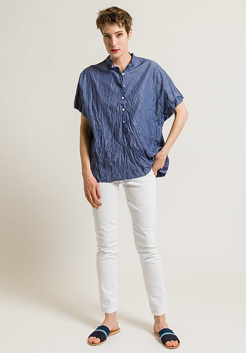 Casey Casey Stripe Boxy Top in Indigo