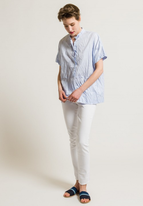 Casey Casey Stripe Boxy Top in Sky