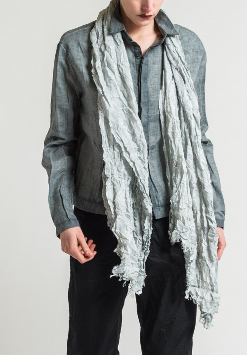Umit Unal Cotton Woven Scarf in Light Blue