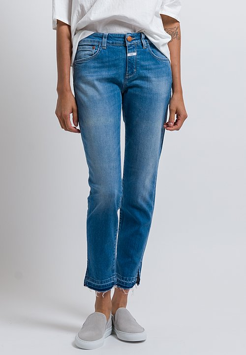 Closed Baker Distressed Hem Jeans in Blue Eyes