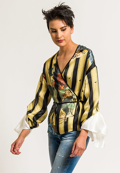 Act n°1 Printed Kimono Top in Multicolor