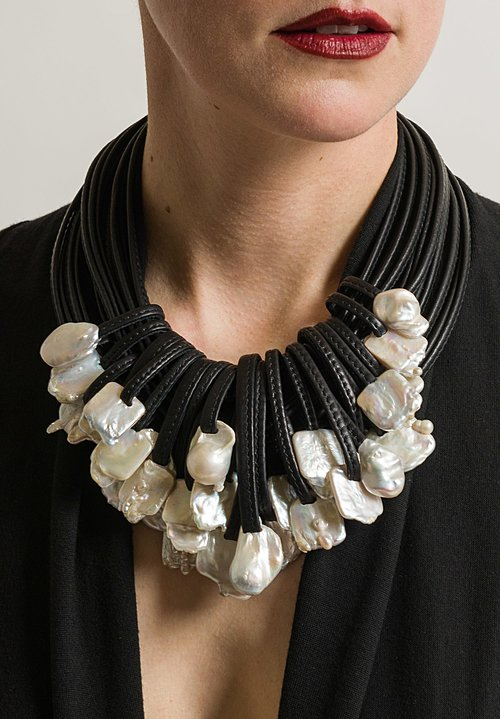 Monies UNIQUE Baroque Pearl 27 Drop Necklace
