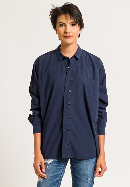 Kaval Misregistration Button-Down Shirt in Navy