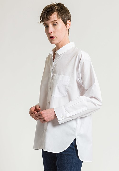 Lareida Cotton Theo Shirt in White Gold