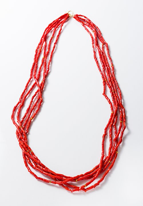 Greig Porter 18K, Natural Italian Coral Necklace