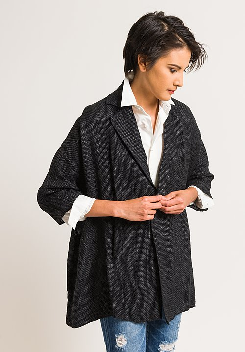 Kaval Cotton/Paper Stole Jacket in Black