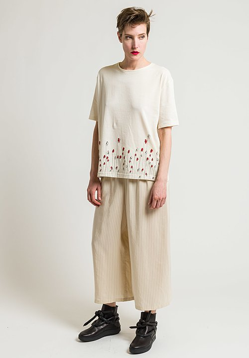 Miao Ran Organic Cotton Poppy Top in Natural