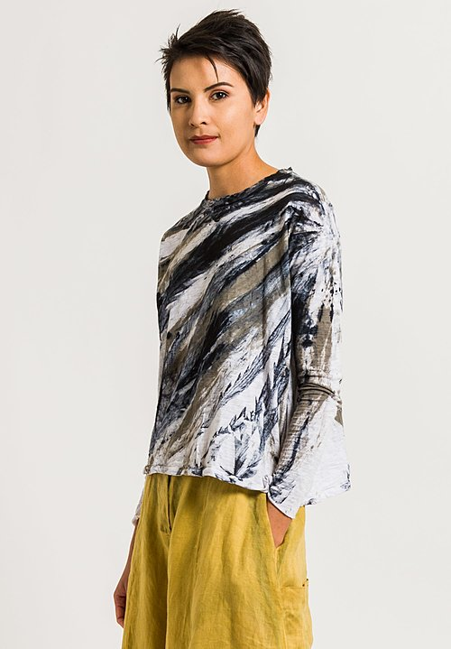 Gilda Midani Straight Trapeze Tee in Feathers