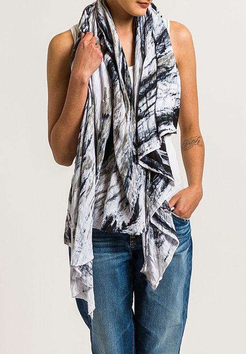 Gilda Midani Pattern Dyed Scarf in Feathers