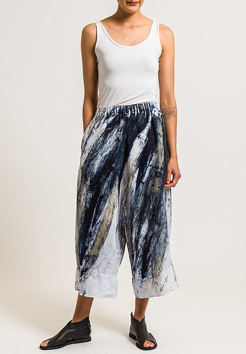 Gilda Midani Linen Pants in Feathers