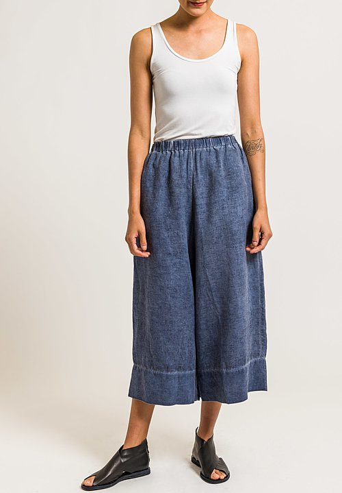 Gilda Midani Linen Pants in Deep Blue