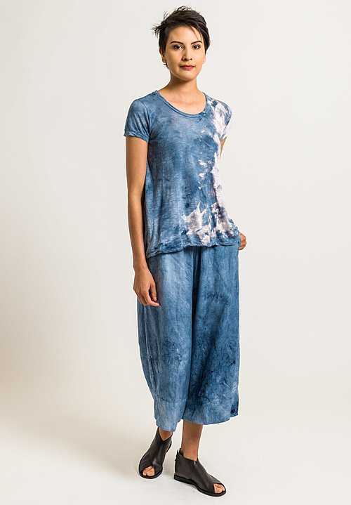 Gilda Midani Linen Pants in Sky Blue