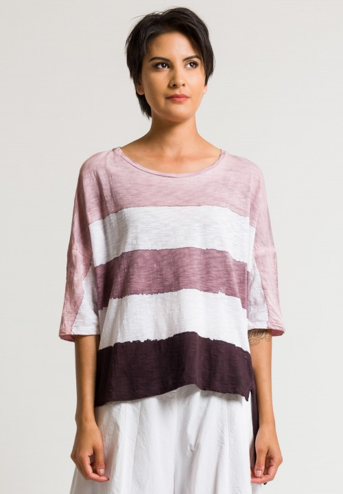 Gilda Midani Super Tee in Bordeaux Stripes