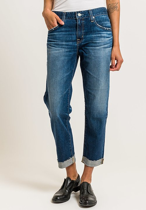 AG Jeans Ex-Boyfriend Slim in Blue Aura