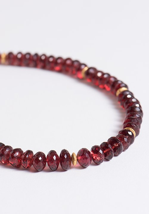 Greig Porter Garnet Single Strand Bead Necklace