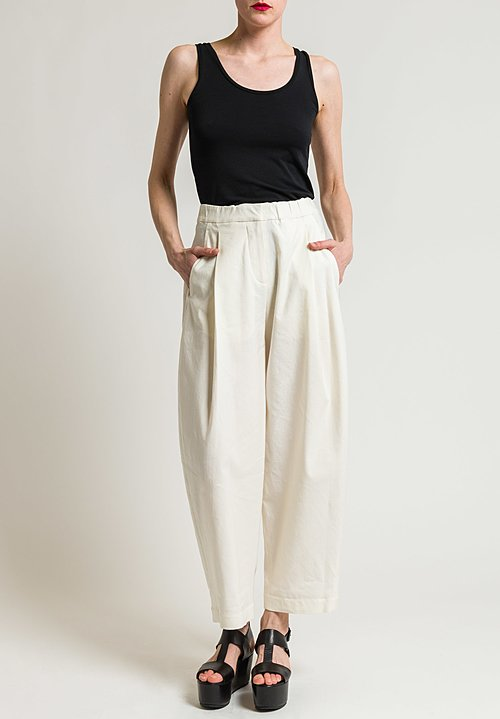 Urban Zen Sculptured Trousers in Ecru