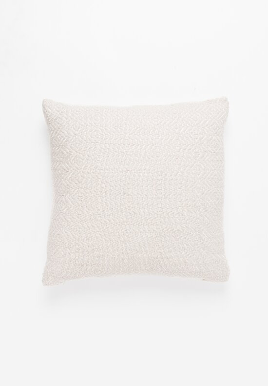 Handwoven Cotton Square Pillow in Beige