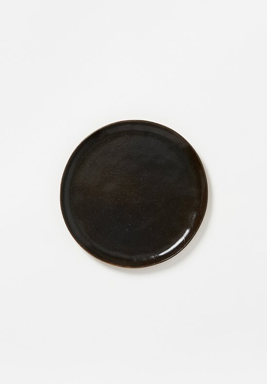 Danny Kaplan Handmade Ceramic Dinner Plate in Black