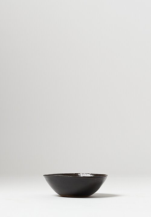 Danny Kaplan Handmade Ceramic Cereal Bowl in Black