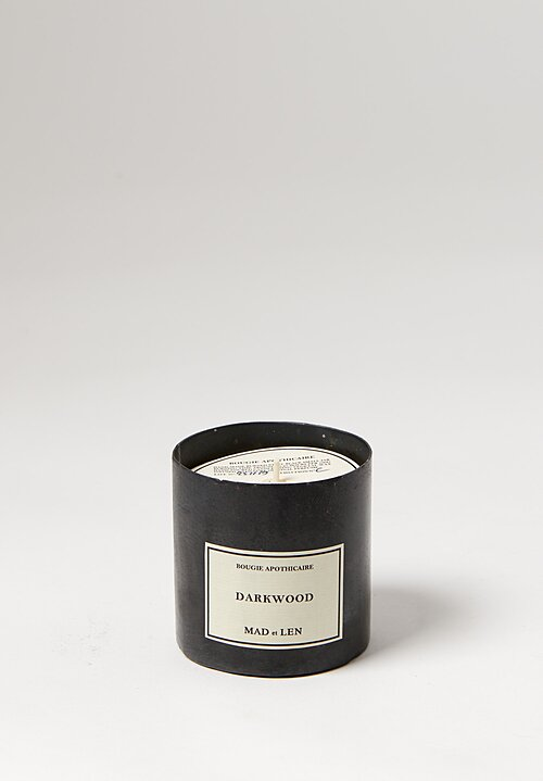 Mad et Len Handmade Apothicaire Candle in Darkwood